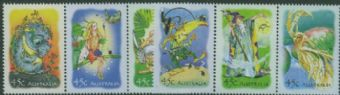 AUS SG2233-8 Stamp Collecting Month: The Magic Rainforest (book by John Marsden) set of 6